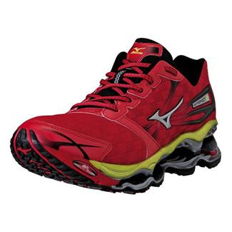Mizuno Wave Prophecy 2 Chinese Red / Silver / Lime Punch