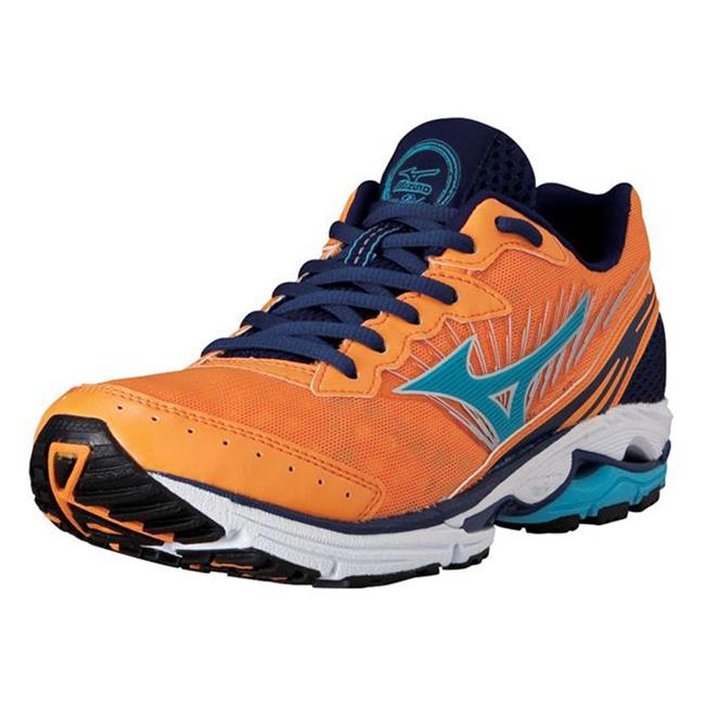 Mizuno Wave Rider 16 Blazing Orange / Blue Atoll / Dress Blue