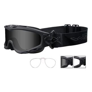 Wiley X Spear Matte Black 2 Lenses w/ RX Insert Smoke Gray / Clear