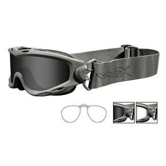 Wiley X Spear Foliage Green 2 Lenses w/ RX Insert Smoke Gray / Clear
