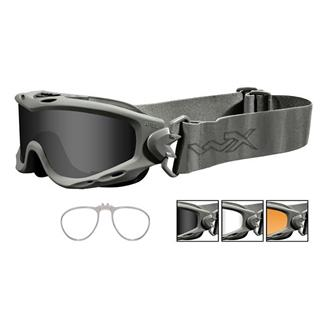 Wiley X Spear Smoke Gray / Clear / Light Rust Foliage Green 3 Lenses w/ RX Insert