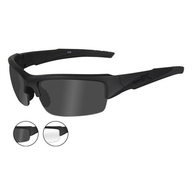 Wiley X Valor Matte Black Smoke Gray / Clear 2 Lenses