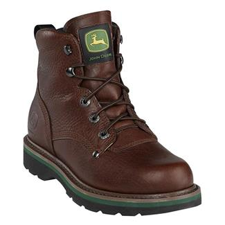 """John Deere 6"""" Ag and Utility Lace-Up Brown Walnut"""