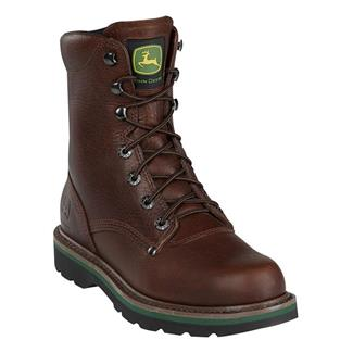 """John Deere 8"""" Ag and Utility Lace-Up Leather Brown Walnut"""