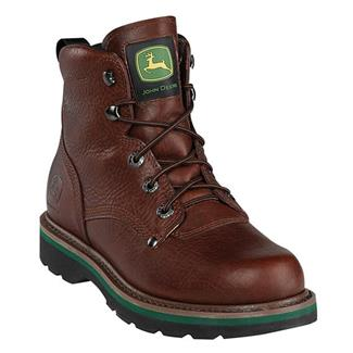 """John Deere 6"""" Ag and Utility Lace-Up ST Brown Walnut"""
