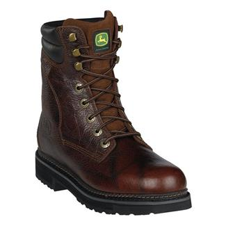 "John Deere 8"" Ag and Utility Lace-Up ST Root Beer"