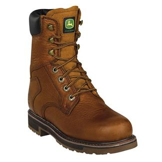 """John Deere 8"""" Ag and Utility Lace-Up ST Golden Tan"""