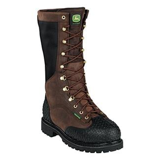 "John Deere 12"" Met Guard Lace-Up ST WP 400G Gaucho"