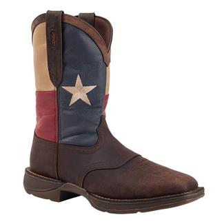 "Durango 11"" Flag Pull-On ST Dark Brown / Texas Flag"
