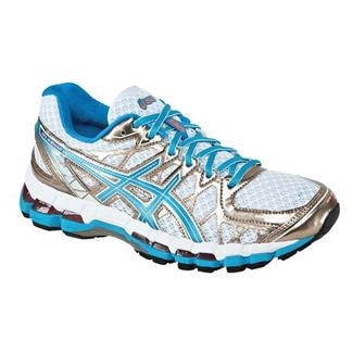 ASICS GEL-Kayano 20 White / Island Blue / Electric Melon