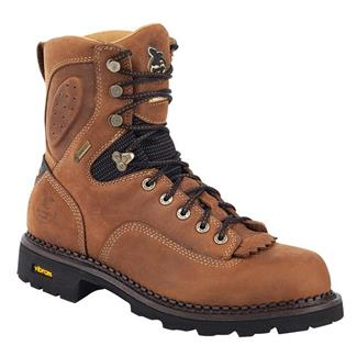 "Georgia 8"" Comfort Core Low Heel Logger CT GTX Crazy Horse"