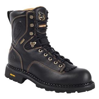 "Georgia 8"" Comfort Core Low Heel Logger GTX Black"