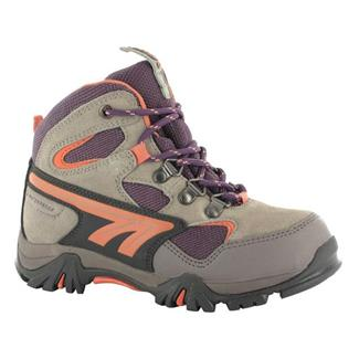 Kids' Hi-Tec Nepal WP JR Warm Gray / Beetroot / Salmon