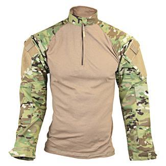 Tru-Spec Nylon / Cotton 1/4 Zip Tactical Response Combat Shirt MultiCam / Coyote