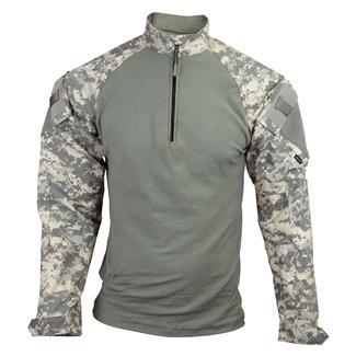 Tru-Spec Nylon / Cotton 1/4 Zip Tactical Response Combat Shirt Army Digital / Foliage