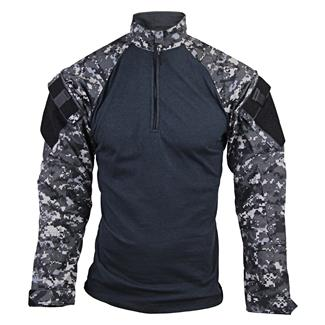 Tru-Spec Nylon / Cotton 1/4 Zip Tactical Response Combat Shirt Urban Digital / Black