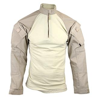 Tru-Spec Nylon / Cotton 1/4 Zip Tactical Response Combat Shirt Khaki / Sand