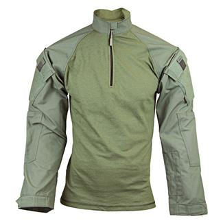 Tru-Spec Nylon / Cotton 1/4 Zip Tactical Response Combat Shirt Olive Drab / Olive Drab