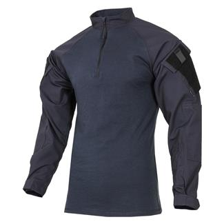 Tru-Spec Nylon / Cotton 1/4 Zip Tactical Response Combat Shirt Navy / Navy