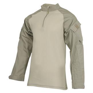 TRU-SPEC Poly / Cotton 1/4 Zip Tactical Response Combat Shirt Khaki / Sand
