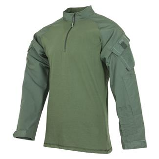 Tru-Spec Poly / Cotton 1/4 Zip Tactical Response Combat Shirt Olive Drab / Olive Drab