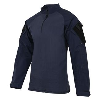 TRU-SPEC Poly / Cotton 1/4 Zip Tactical Response Combat Shirt Navy / Navy