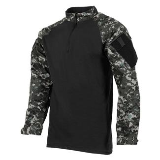 Tru-Spec Poly / Cotton 1/4 Zip Tactical Response Combat Shirt Urban Digital / Black