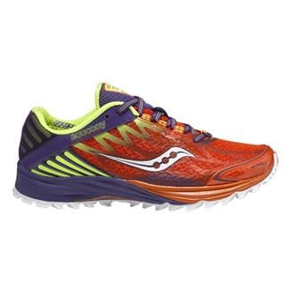 Saucony Peregrine 4 Orange / Purple / Citron