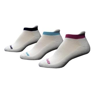 Brooks Versatile Low Cut Tab Socks (3 pack) White / Pomegranate