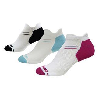Brooks Versatile Double Tab Socks (3 pack) White / Pomegranate / Helium