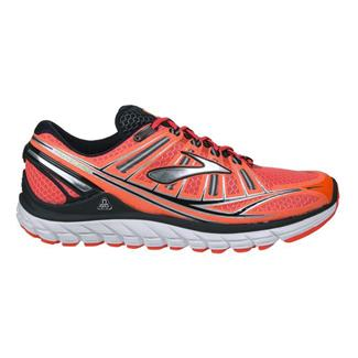 Brooks Transcend Fiery Coral / Silver / Black