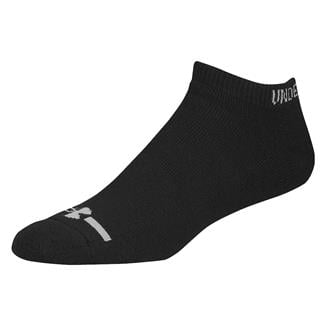 Under Armour Charged Cotton No Show Socks - 6 Pairs Black