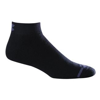 Under Armour Charged Cotton Lo Cut Socks - 6 Pairs Black