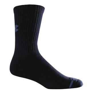 Under Armour Charged Cotton Crew Socks - 6 Pairs Black