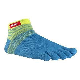Injinji SPORT Original Weight Micro Socks Neon Yellow / Aqua