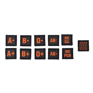 5.11 Blood Type Patch Kit Scope Orange