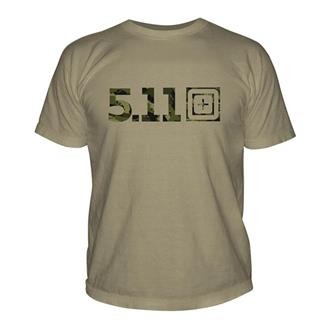 5.11 Camo Logo T-Shirt Tan