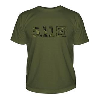 5.11 Camo Logo T-Shirt OD Green