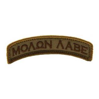Mil-Spec Monkey Molon Labe Tab Patch Desert