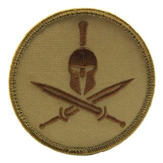 Mil-Spec Monkey Spartan Helmet Patch Desert