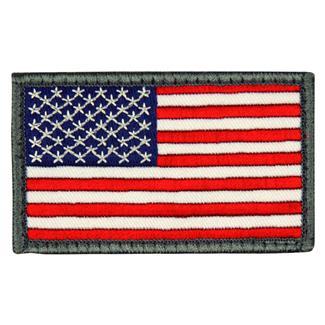 Mil-Spec Monkey US Flag Patch Full -Grey Border