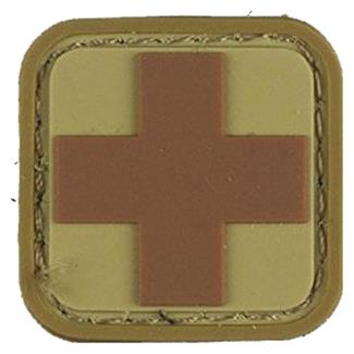 "Mil-Spec Monkey Medic Square 1"" PVC Patch Desert"