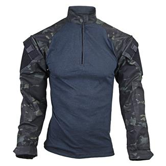 Tru-Spec Nylon / Cotton 1/4 Zip Tactical Response Combat Shirt Multicam Black
