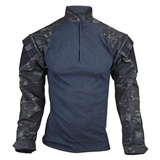 Tru-Spec Nylon / Cotton 1/4 Zip Tactical Response Combat Shirt Multicam Black