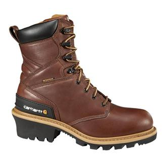 "Carhartt 8"" Logger WP Redwood Brown"