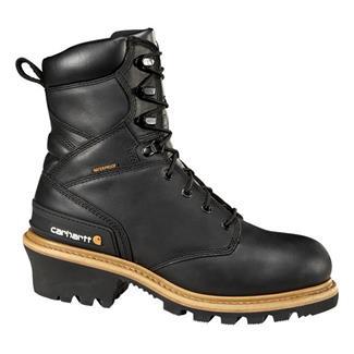 "Carhartt 8"" Logger ST WP Black"