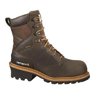 "Carhartt 8"" Logger CT WP Crazy Horse Brown"