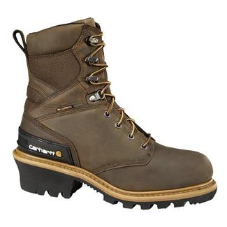 "Carhartt 8"" Logger CT IN WP Crazy Horse Brown"