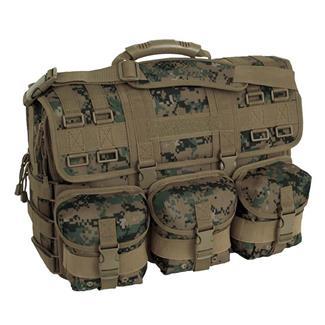 Mercury Luggage Computer Messenger Bag Marpat Woodland