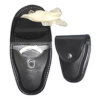 Gould & Goodrich Leather Handcuff Case / Glove Pouch Black Plain